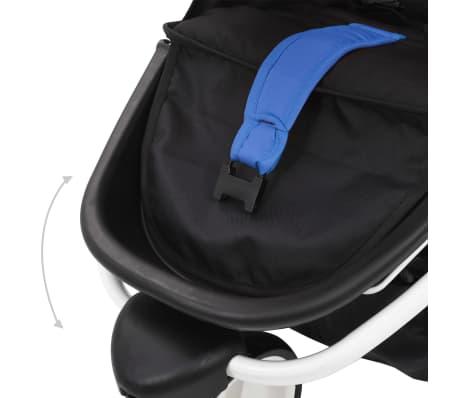 vidaXL Vaikiškas triratis vežimėlis, mėlynos ir juodos spalvos[9/11]