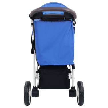 vidaXL Vaikiškas triratis vežimėlis, mėlynos ir juodos spalvos[5/11]