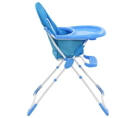 vidaXL Aukšta maitinimo kėdutė, mėlynos ir baltos spalvos[4/9]