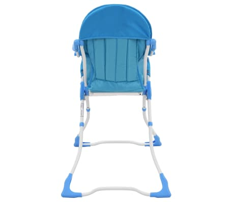 vidaXL Aukšta maitinimo kėdutė, mėlynos ir baltos spalvos[5/9]