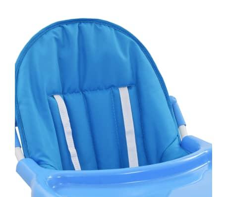 vidaXL Aukšta maitinimo kėdutė, mėlynos ir baltos spalvos[6/9]