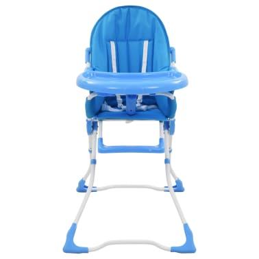 vidaXL Aukšta maitinimo kėdutė, mėlynos ir baltos spalvos[2/9]