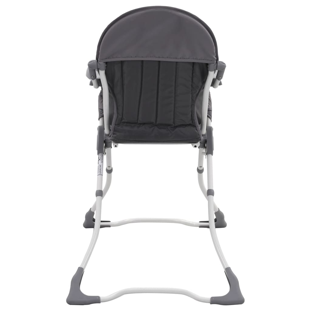 Dětská jídelní židlička šedo-bílá