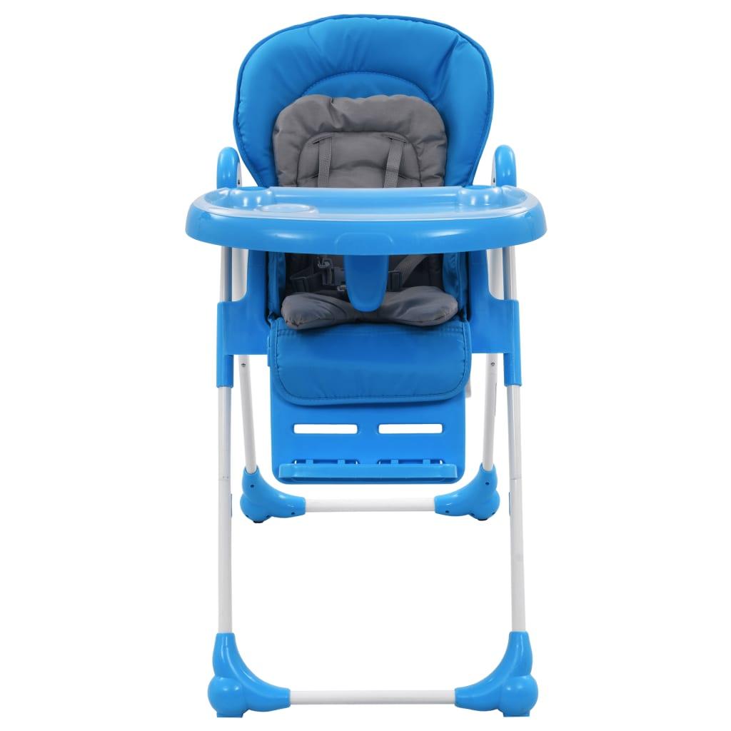 9910187 Baby-Hochstuhl Blau und Grau