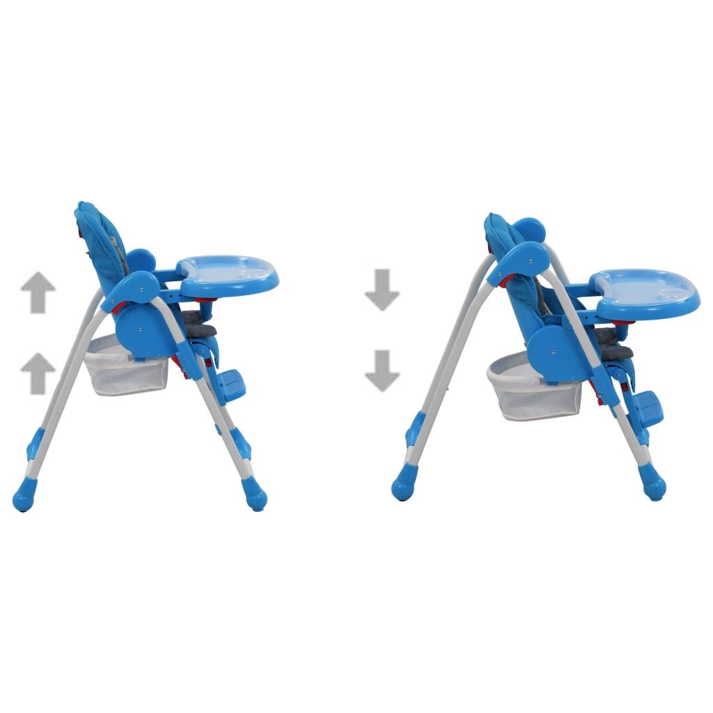 Dětská jídelní židlička modro-šedá