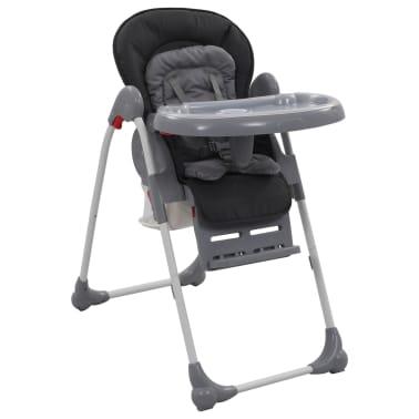 vidaXL Chaise haute pour bébé Gris[1/12]