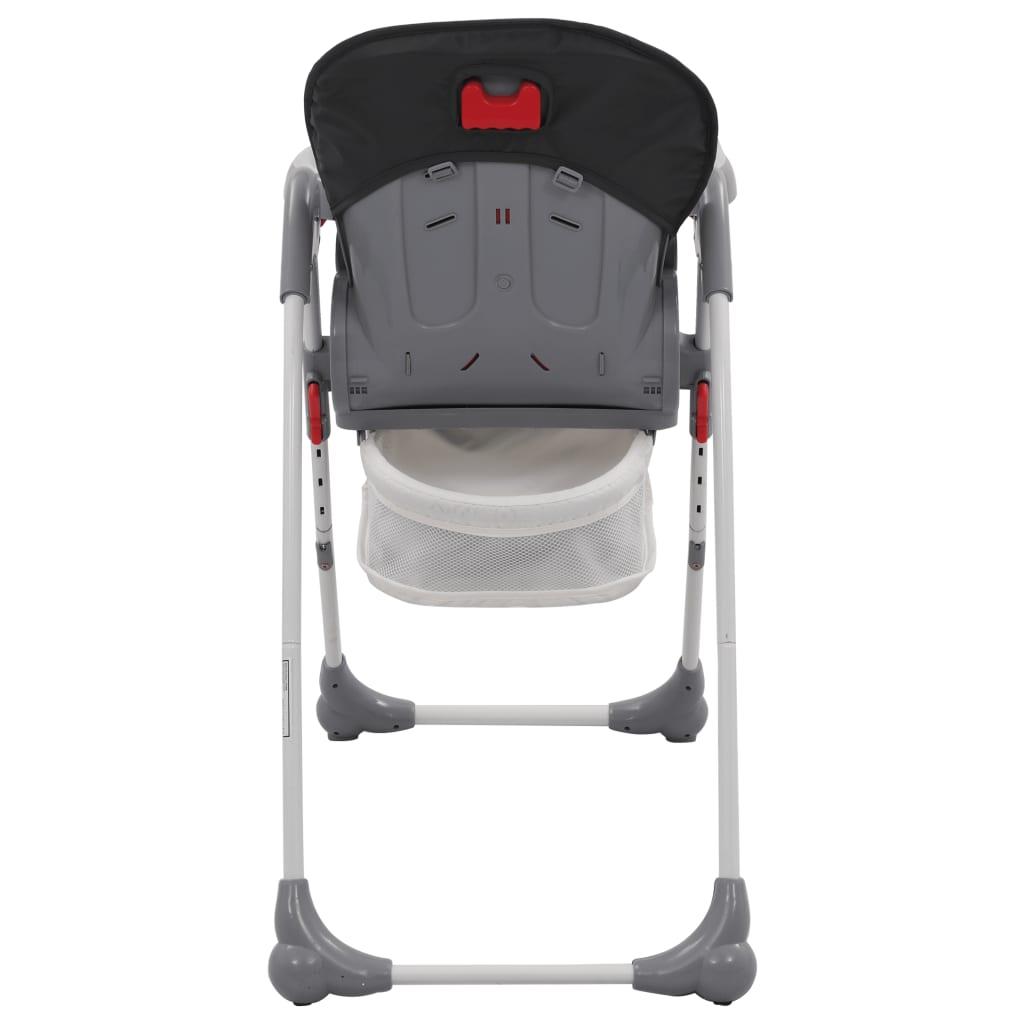 Dětská jídelní židlička šedá