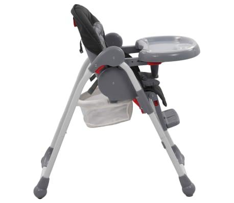 vidaXL Chaise haute pour bébé Gris[6/12]