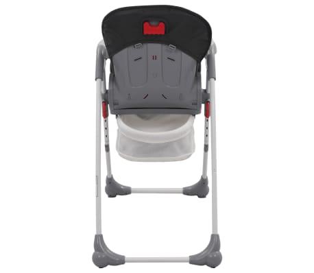 vidaXL Chaise haute pour bébé Gris[7/12]