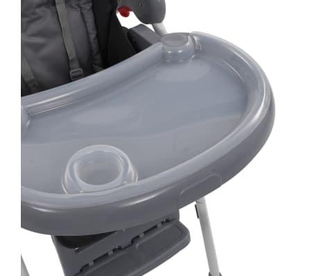 vidaXL Chaise haute pour bébé Gris[8/12]