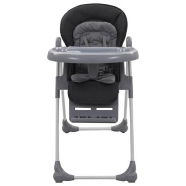 vidaXL Chaise haute pour bébé Gris[2/12]