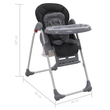 vidaXL Chaise haute pour bébé Gris[12/12]