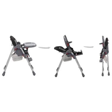 vidaXL Chaise haute pour bébé Gris[3/12]
