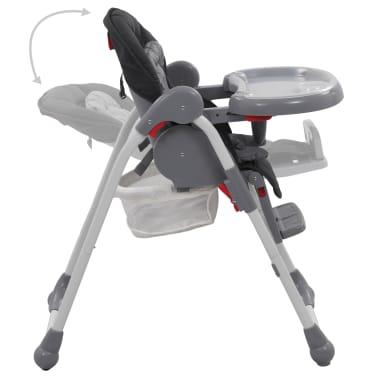 vidaXL Chaise haute pour bébé Gris[5/12]