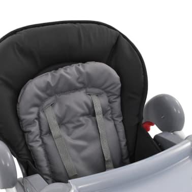 vidaXL Chaise haute pour bébé Gris[9/12]