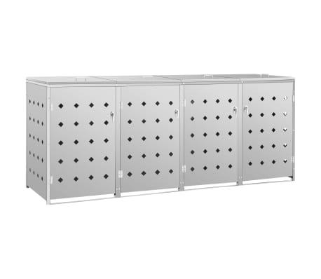 vidaXL Mülltonnenbox Stahl Mülltonnenverkleidung Müllbox mehrere Auswahl