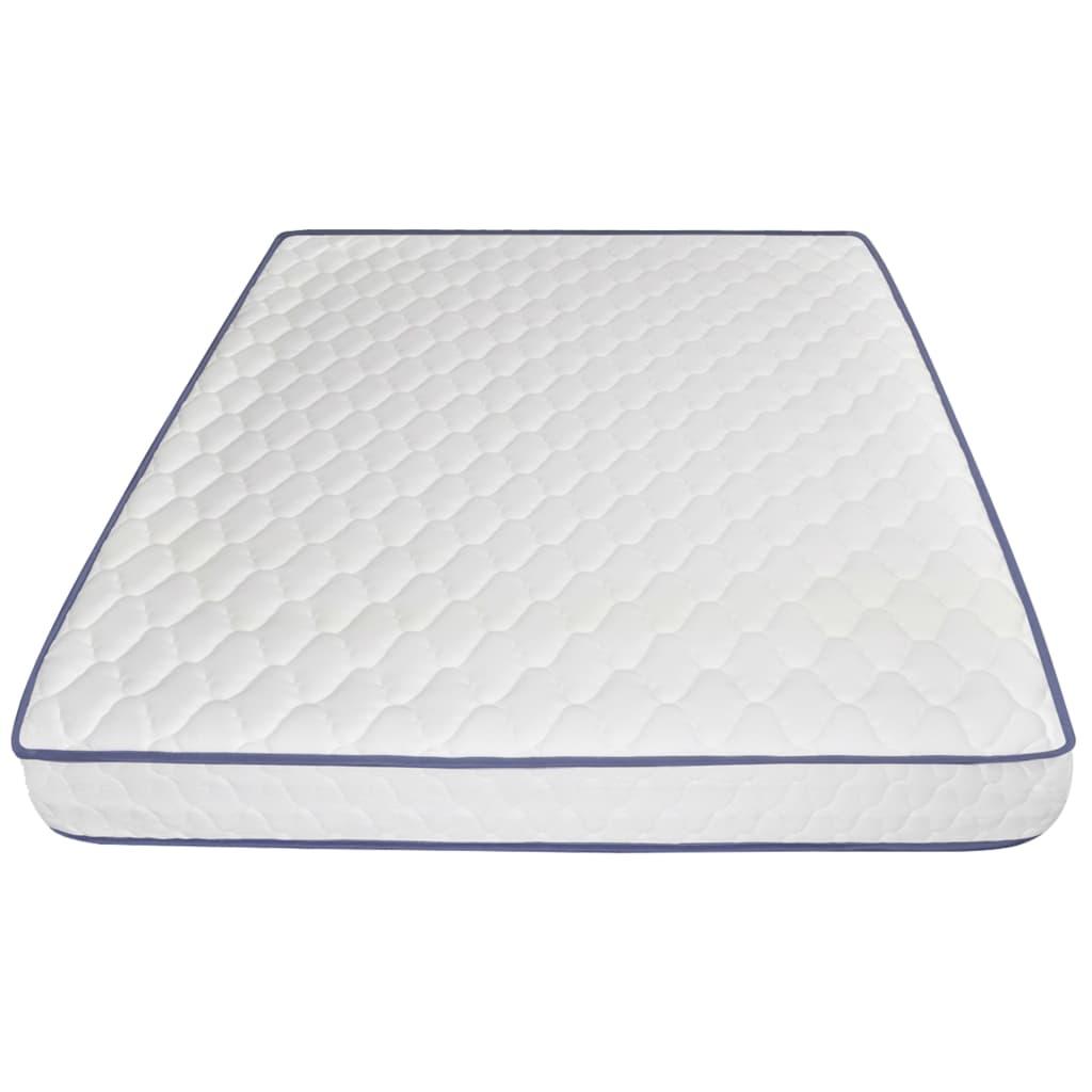 vidaXL Bed met traagschuim matras stof taupe 160x200 cm