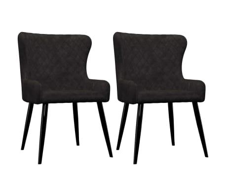 vidaXL Dining Chairs 2 pcs Black Velvet