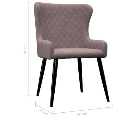 vidaXL Chaises de salle à manger 2 pcs Rose Velours