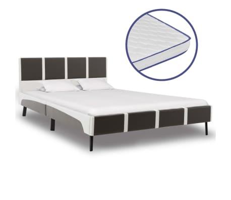 vidaXL Postel s matrací z paměťové pěny umělá kůže 140 x 200 cm