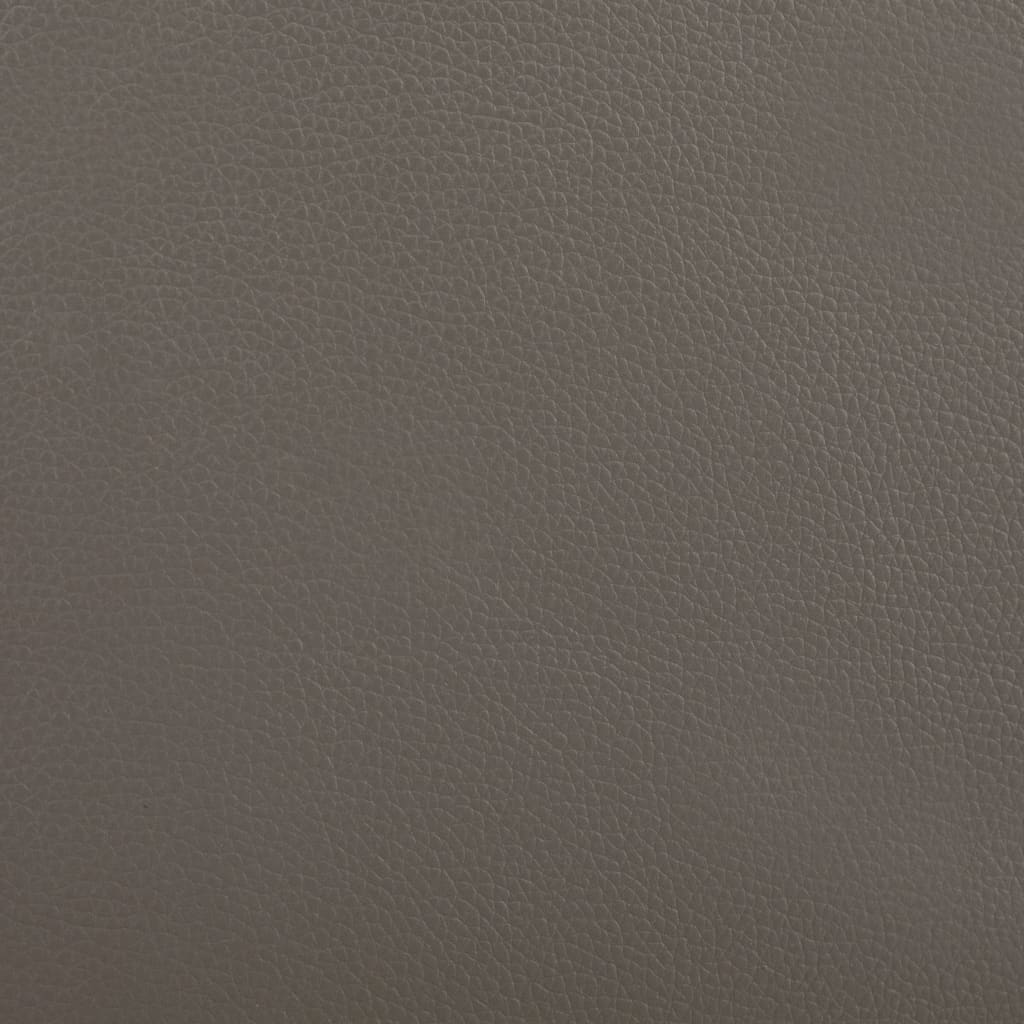 vidaXL Bed met matras kunstleer grijs en wit 160x200 cm