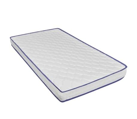 vidaXL Lova su čiužiniu Memory, juodos sp., 160x200 cm, dirbtinė oda[9/15]