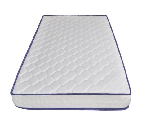 vidaXL Lova su čiužiniu Memory, juodos sp., 160x200 cm, dirbtinė oda[10/15]