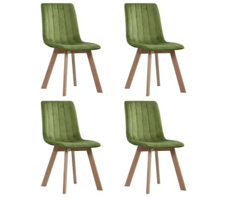 vidaXL Dining Chairs 4 pcs Green Velvet