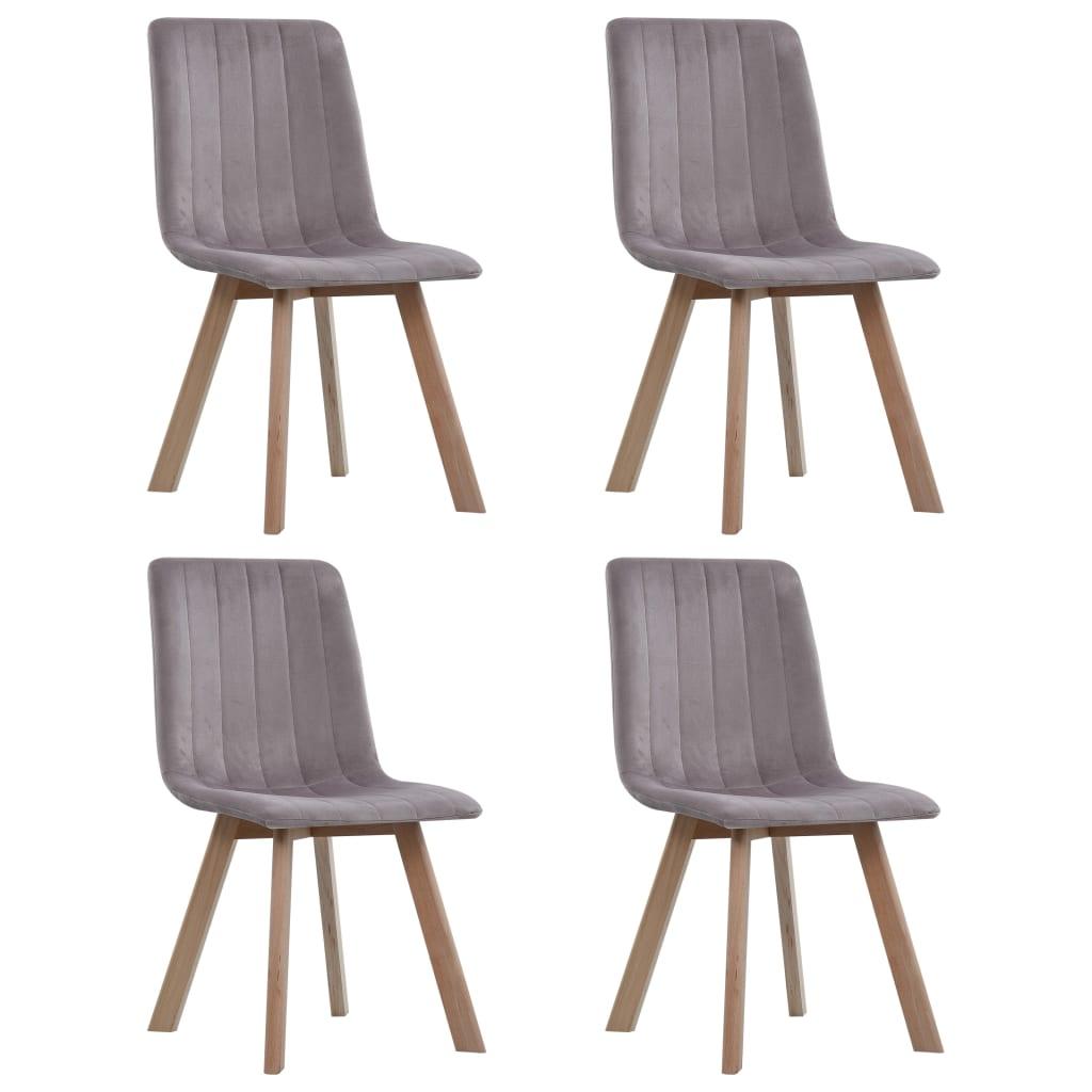 vidaXL Καρέκλες Τραπεζαρίας 4 τεμ. Ροζ Βελούδινες