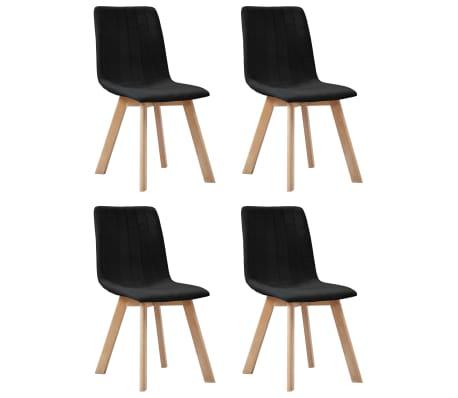 vidaXL Καρέκλες Τραπεζαρίας 4 τεμ. Μαύρες Υφασμάτινες