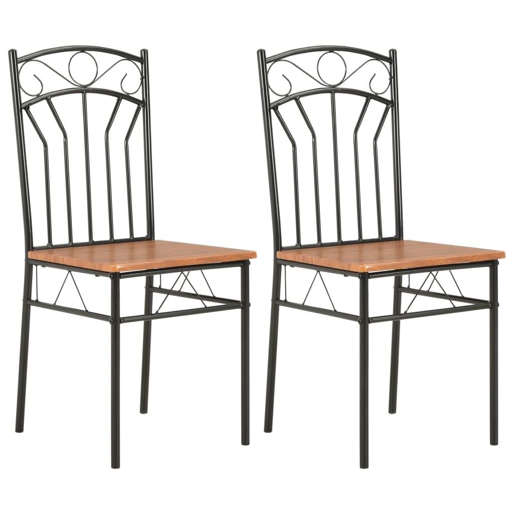 vidaXL Καρέκλες Τραπεζαρίας 2 τεμ. Καφέ από MDF