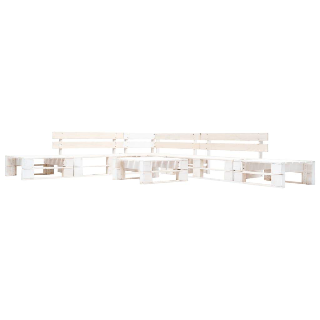 vidaXL 6-częściowy zestaw mebli z palet, drewno FSC, biały