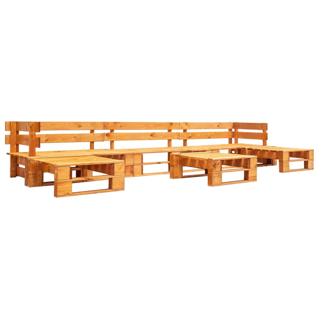 vidaXL 6-cz. zestaw ogrodowy, palety z drewna FSC, miodowy brąz