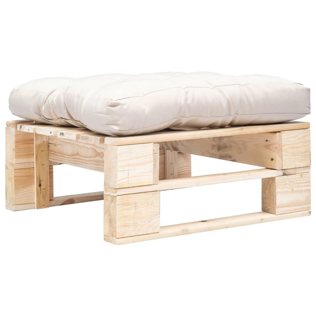 vidaXL Zahradní taburet z palet s pískovou poduškou přírodní dřevo