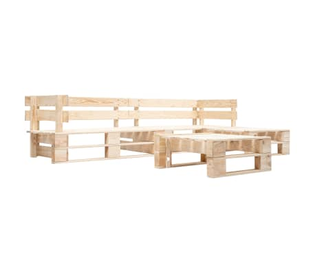 vidaXL Holz Garten Palettensofa 4-tlg Kissen Ecksofa Sofa mehrere Auswahl