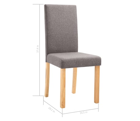 Fabulous Vidaxl Dining Chairs 6 Pcs Taupe Fabric Theyellowbook Wood Chair Design Ideas Theyellowbookinfo