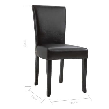 Admirable Vidaxl Dining Chairs 4 Pcs Brown Faux Leather Vidaxl Com Creativecarmelina Interior Chair Design Creativecarmelinacom