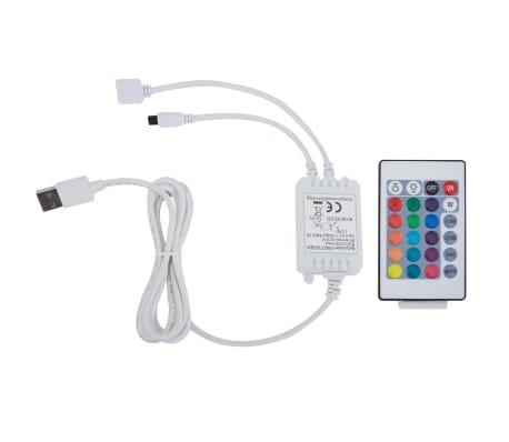 vidaXL Lit LED matelas à mémoire de forme Gris clair Tissu 120x200 cm[8/15]