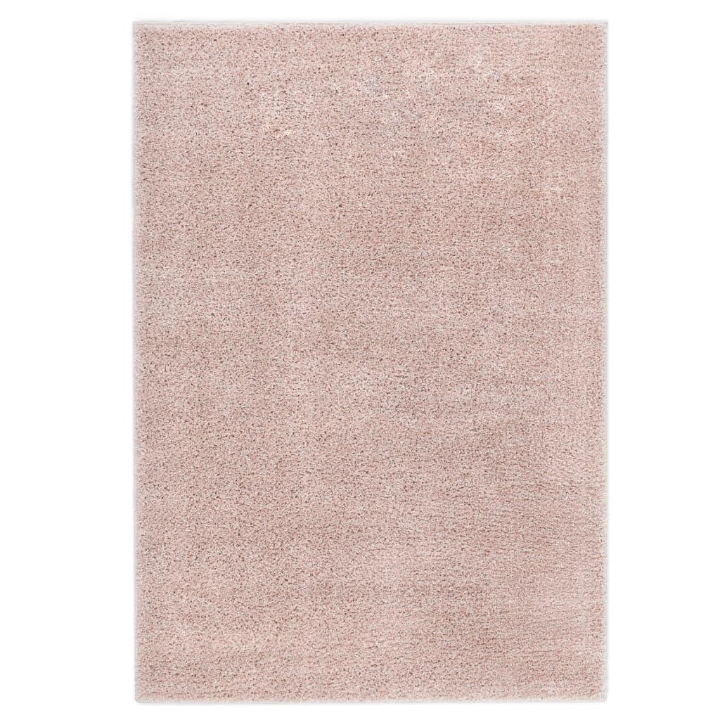 Kusový koberec Shaggy 80 x 150 cm starorůžový