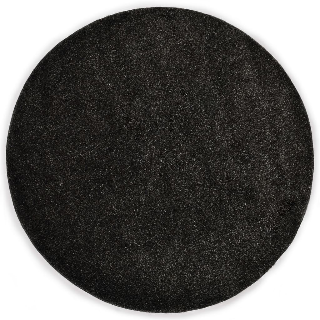 vidaXL Kusový koberec Shaggy 67 cm antracitový