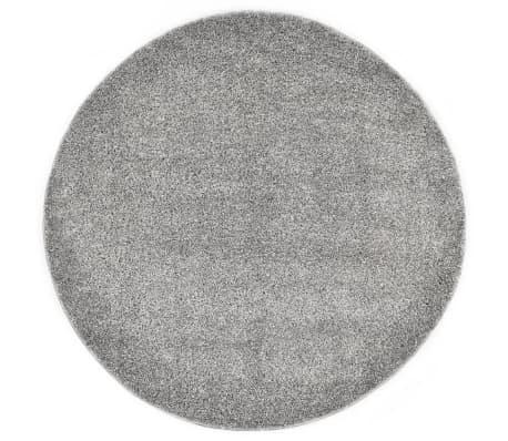 vidaXL Tapis Shaggy 67 cm Gris