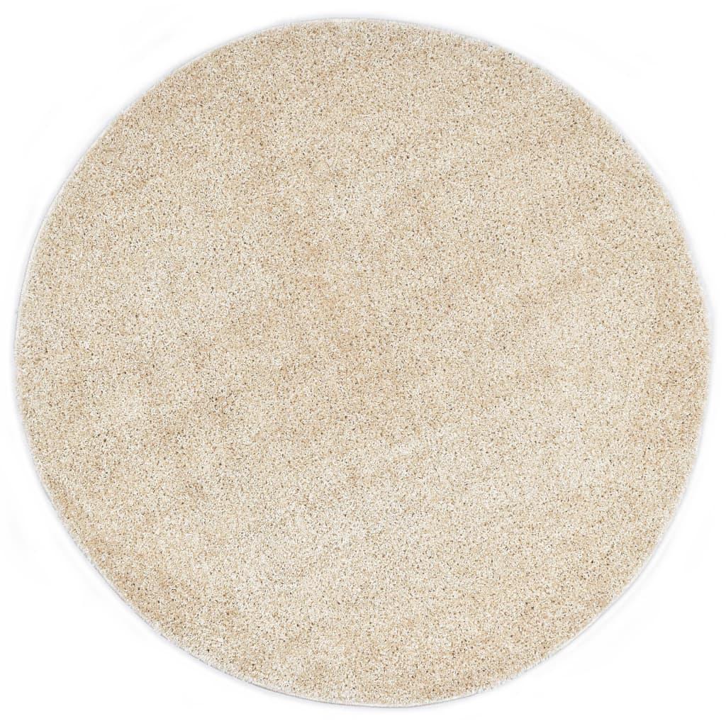 vidaXL Kusový koberec Shaggy 67 cm béžový