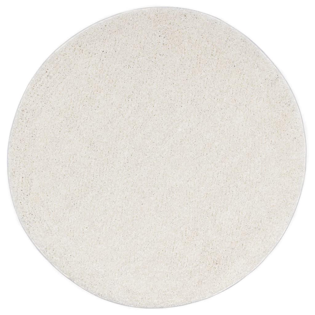 vidaXL Kusový koberec Shaggy 67 cm krémový