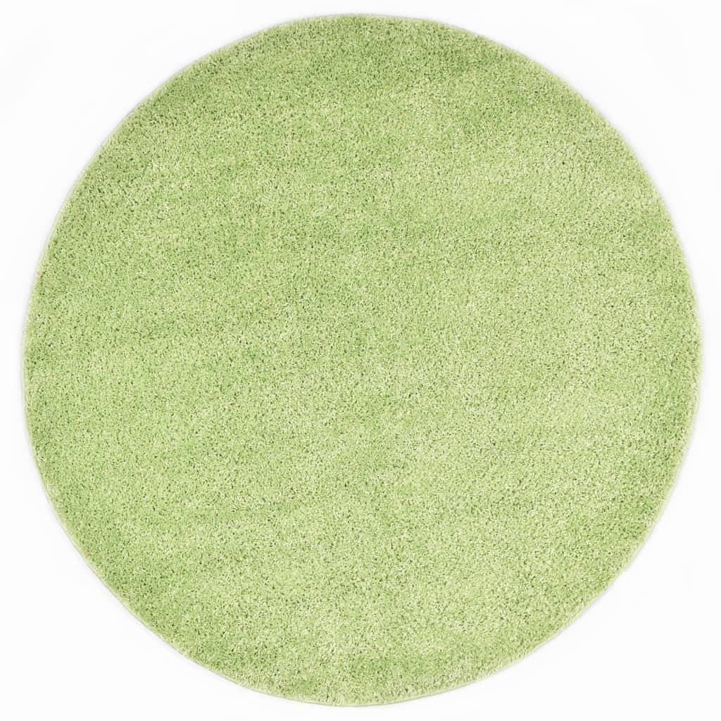 vidaXL Kusový koberec Shaggy 67 cm zelený