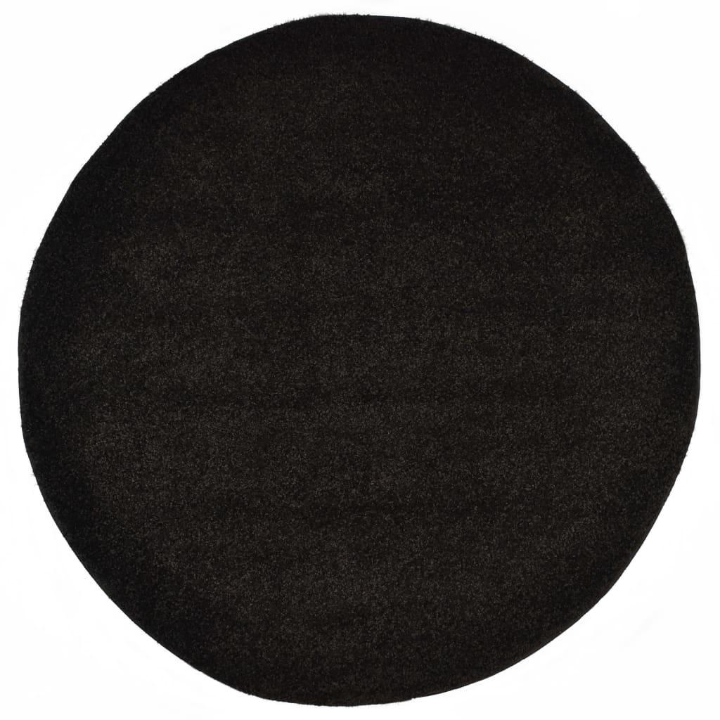 vidaXL Kusový koberec Shaggy 67 cm černý