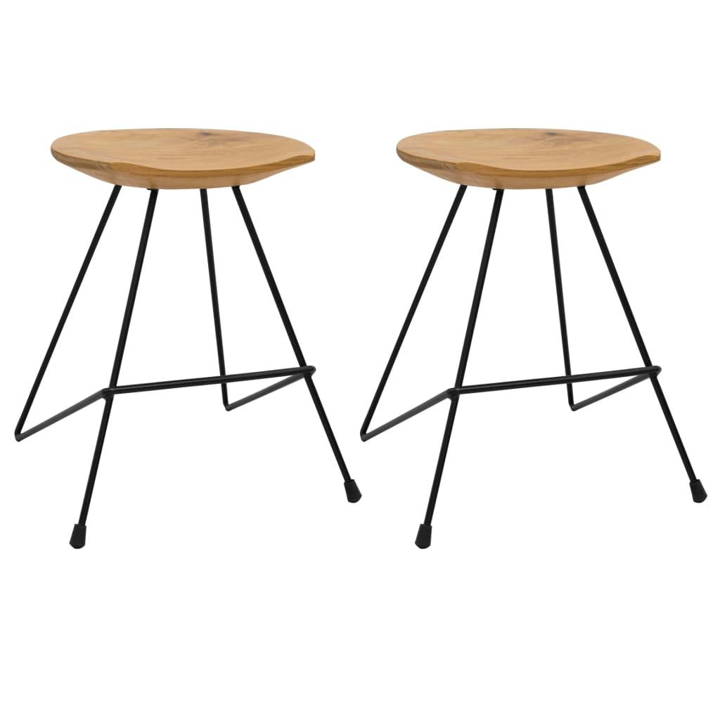 Stoličky 2 ks masivní teakové dřevo