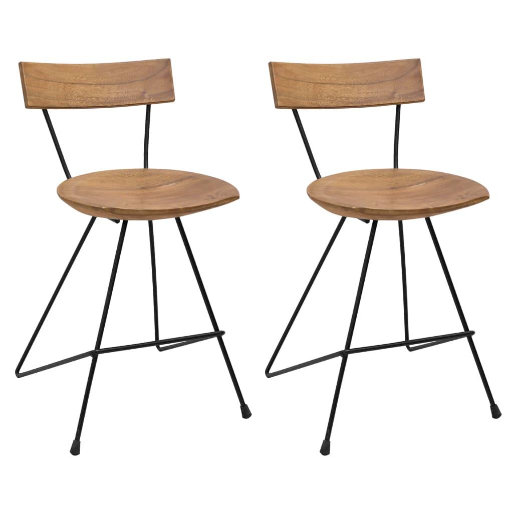 vidaXL spisebordsstole 2 stk. massivt teaktræ