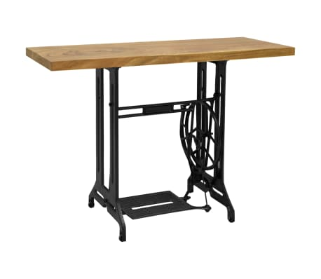vidaXL Table console avec machine à coudre 110x40x75 cm