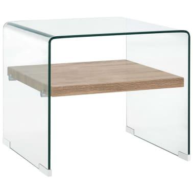 vidaXL Kavos staliukas, skaidrus, 53x50x45cm, grūdintas stiklas[1/5]