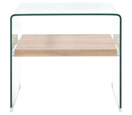 vidaXL Kavos staliukas, skaidrus, 53x50x45cm, grūdintas stiklas[2/5]